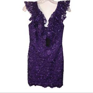 NWT NBD V-neck Lace Sleeveless Dress